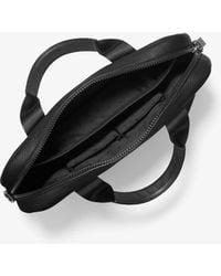 Michael Kors Greyson Slim Pebbled Leather Briefcase - Black