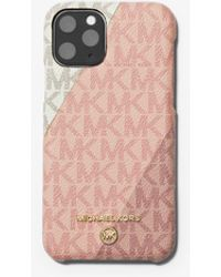 Michael Kors Color-block Logo Phone Cover For Iphone 11 Pro - Pink