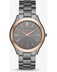 055003e76859 Michael Kors - Slim Runway Two-tone Watch - Lyst