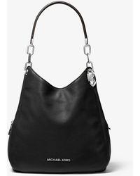 Michael Kors Lillie Large Chain Shoulder Tote Bag Black - Noir