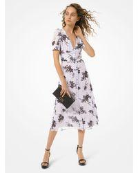 Michael Kors Floral Georgette Button-front Dress - Multicolor