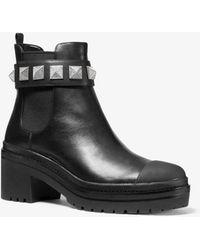 Michael Kors Glenn Studded Leather Boot - Black
