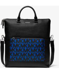 Michael Kors Shopper Greyson aus Leder mit Logo - Schwarz