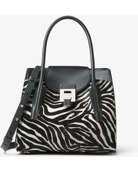 Michael Kors - Bancroft Medium Zebra Calf Hair Satchel - Lyst