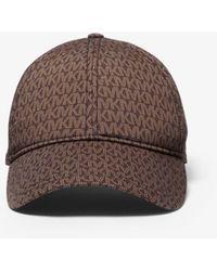Michael Kors Logo Print Stretch Cotton Baseball Cap - Brown