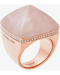 Michael Kors - Rose Gold-tone Pyramid Ring - Lyst