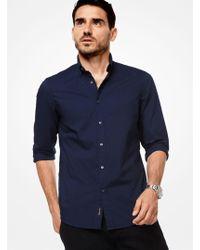 Michael Kors - Slim-fit Cotton Shirt - Lyst