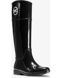 Michael Kors Stockard Logo Rain Boot - Black