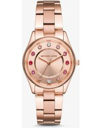 Michael Kors - Colette Rose Gold-tone Watch - Lyst