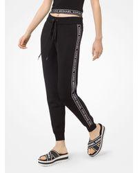 Michael Kors Logo Stripe Jogger Trousers - Black
