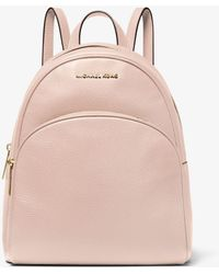 Michael Kors Abbey Medium Pebbled Leather Backpack - Pink