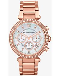 Michael Kors Parker Rose Gold-tone Watch - Pink