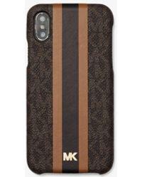 Michael Kors Funda con rayas y logotipo para iPhone X/XS - Multicolor