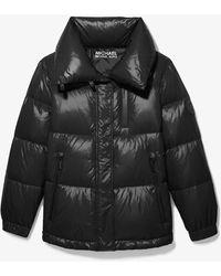 Michael Kors Quilted Nylon Puffer Jacket - Black