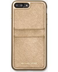 Michael Kors - Metallic Saffiano Leather Case For Iphone 7/8 Plus - Lyst