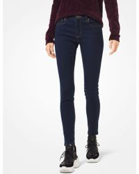 Michael Kors Como Heritage Skinny Fit Faded Jeans - Blue