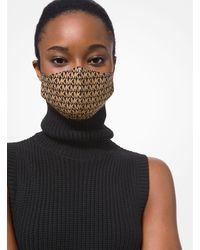 Michael Kors Logo Stretch Cotton Face Mask - Brown