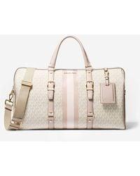 Michael Kors Bedford Travel Extra-large Logo Stripe Weekender Bag - Pink