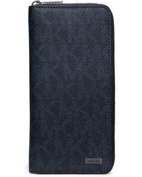 Michael Kors Jet Set Logo Zip-Around Wallet - Azul