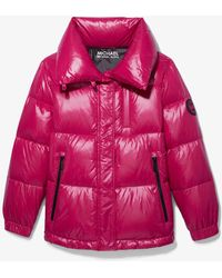 Michael Kors Quilted Nylon Puffer Jacket - Pink