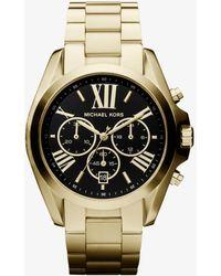 Michael Kors - Bradshaw Gold-tone Watch - Lyst
