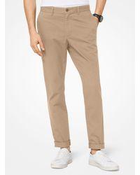 Michael Kors Pantalone chino slim-fit in twill di cotone - Neutro