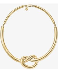 Michael Kors - Gold-tone Knot Necklace - Lyst