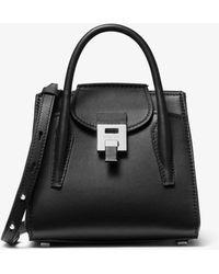 Michael Kors Bancroft Mini Calf Leather Satchel - Black