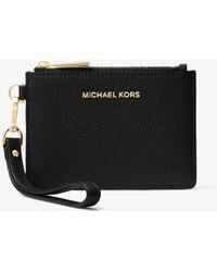 Michael Kors Leather Coin Purse - Black