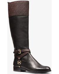 MICHAEL Michael Kors Preston Two-tone Leather Boot - Brown