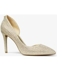 Michael Kors - Lucille Embellished Chain-mesh Pump - Lyst