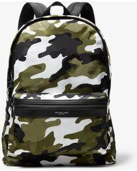 cc49f68ed3cb Lyst - Michael Kors Kent Camouflage Backpack in Black for Men