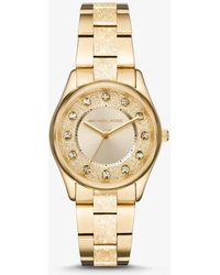 Michael Kors - Colette Textured Gold-tone Watch - Lyst
