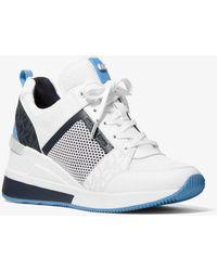 Michael Kors Georgie Mixed-media Sneaker - White