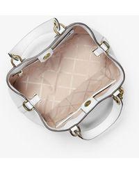 Michael Kors Brooklyn Sm Grab Bag Optic White