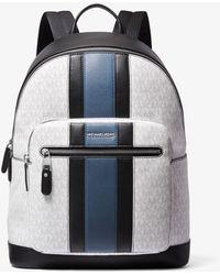 Michael Kors Hudson Logo Stripe Backpack - Black