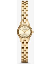 b73348d272c8 Lyst - Michael Kors Petite Camille Gold-tone Watch And Slider ...