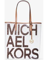 Michael Kors Grand cabas Michael transparent à logo graphique - Multicolore