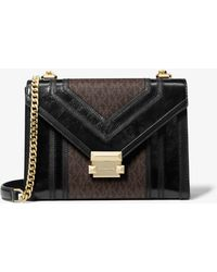 MICHAEL Michael Kors Whitney Large Quilted Leather Convertible Shoulder Bag - Black