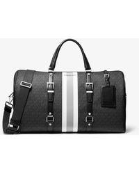 MICHAEL Michael Kors Bedford Travel Extra-large Logo Stripe Weekender Bag - Black