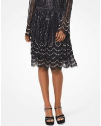 Michael Kors - Embellished Tiered Lace Skirt - Lyst