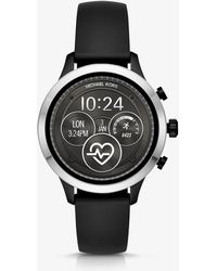 Michael Kors - Runway Silver-tone And Silicone Smartwatch - Lyst