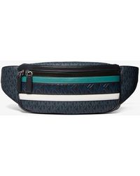 Michael Kors Cooper Logo Stripe Belt Bag - Black