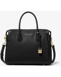 MICHAEL Michael Kors Mercer Small Leather Handbag - Black
