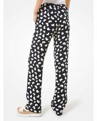 MICHAEL Michael Kors Petal Print Pyjama Trousers - Black