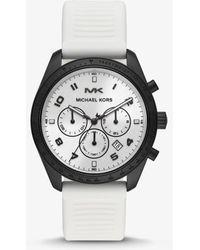 Michael Kors - Reloj Keaton en tono negro con correa de silicona - Lyst