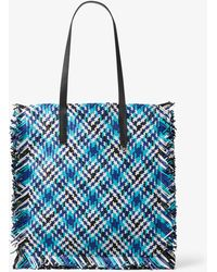 0948b8536a75 Michael Kors - Maldives Large Madras Woven Leather Tote - Lyst