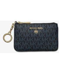 Michael Kors - Extra-small Logo Card Case With Key Ring - Lyst
