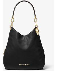 Michael Kors Lillie Large Pebbled Leather Shoulder Bag - Black