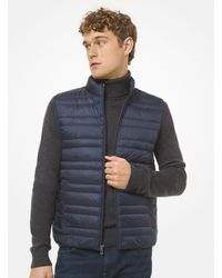 Michael Kors Quilted Puffer Vest - Blue